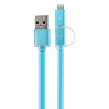 Фото USB-кабель для Remax Lightning/microUSB Aurora Cable (Blue)
