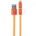 Фото USB-кабель для Remax Lightning/microUSB Aurora Cable (Orange)