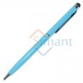 Фото Емкостной стилус с ручкой (голубой)