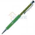 Фото Ручка-стилус со стразами (зеленый)