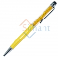 Фото Ручка-стилус со стразами (желтый)