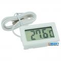 Фото Цифровой LCD термометр (белый)