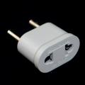 Фото Адаптер для электрических вилок США на ЕВРО (белый)