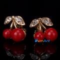 Фото Серьги-клипсы Сочные вишни