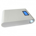 Фото Power Bank LMS Data PBK-12000-LCD White (12000мАч)