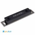 Фото Водоблок для модулей памяти Alphacool D-RAM Cooler X2 Universal - Acetal Black Nickel