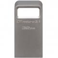 Фото Накопитель USB Kingston DT Micro 3.1 32GB Metal Silver USB 3.1 (DTMC3/32GB)