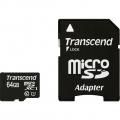 Фото Карта памяти Transcend microSDXC Premium 64GB Class 10 UHS-I + SD адаптер (TS64GUSDU1)