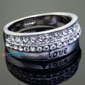 Фото Кольцо Любовь белое золото