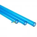 Фото Синяя акриловая трубка 10/14мм (1 метр)
